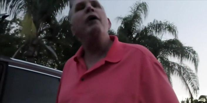 Joseph Fucheck was filmed going on a racist and homophobic tirade against a Black man in Florida last month.