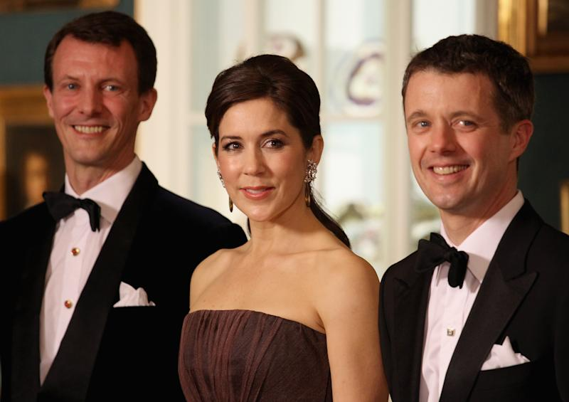Prince Joachim, Princess Mary and Prince Frederik at a ball in Denmark
