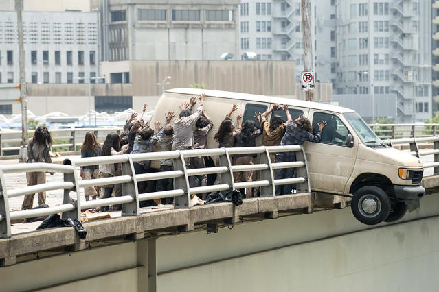 Walkers in AMC's <i>The Walking Dead</i>. (Photo: Gene Page/AMC)