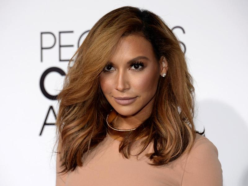 Naya Rivera arrives at the 2014 People's Choice Awards in Los Angeles: (2020 Getty Images)