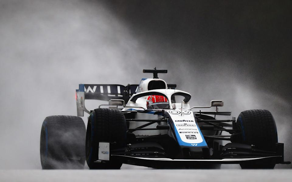 George Russell of Great Britain driving the (63) Williams Racing FW43 Mercedes on track during qualifying for the Formula One Grand Prix of Styria at Red Bull Ring on July 11, 2020 in Spielberg, Austria - Dan Istitene - Formula 1