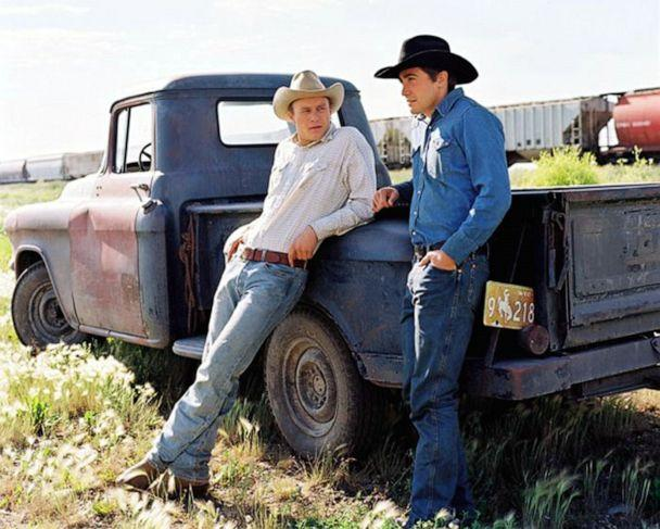 PHOTO: Heath Ledger (left) and Jake Gyllenhaal are shown in this still from the 2005 movie 'Brokeback Mountain'. (United Archives via Newscom)