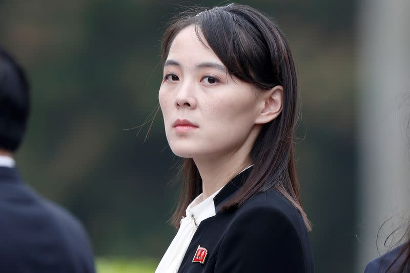Kim Yo Jong, sister of North Korea's leader Kim Jong Un attends wreath laying ceremony at Ho Chi Minh Mausoleum in Hanoi
