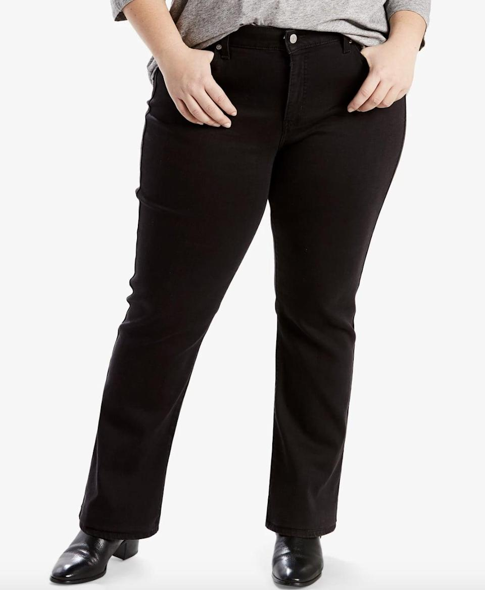 <p>You'll reach for these <span>Levi's Trendy Plus Size Classic Straight-Leg Jeans</span> ($60) time and time again. The straight-leg style looks great with boots for fall and winter.</p>