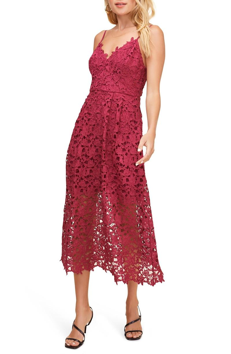 """This lace party dress has 1,300 reviews and a 4.1-star rating. Normally $89, get it on sale for $53 at <a href=""""https://fave.co/38JdUic"""" target=""""_blank"""" rel=""""noopener noreferrer"""">Nordstrom</a>. It's available in <a href=""""https://fave.co/38JdUic"""" target=""""_blank"""" rel=""""noopener noreferrer"""">sizes XS to XL</a>."""