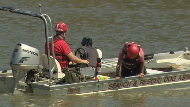 Search and rescue crews resumed the search Saturday morning but suspended the effort around 10 a.m. (Nathan Gross/CBC - image credit)
