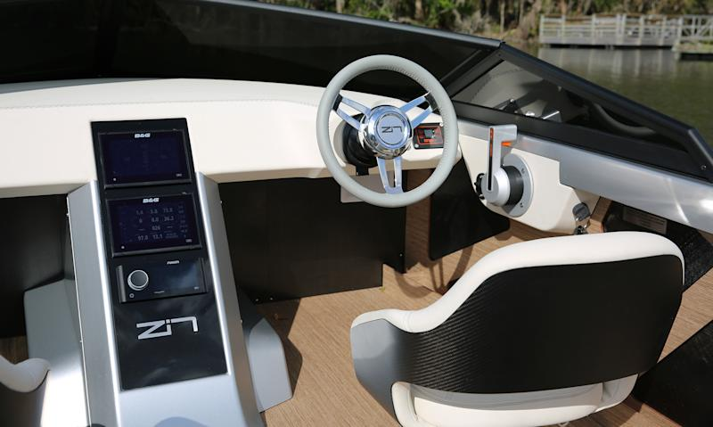 Interior of the Z2R electric boat.