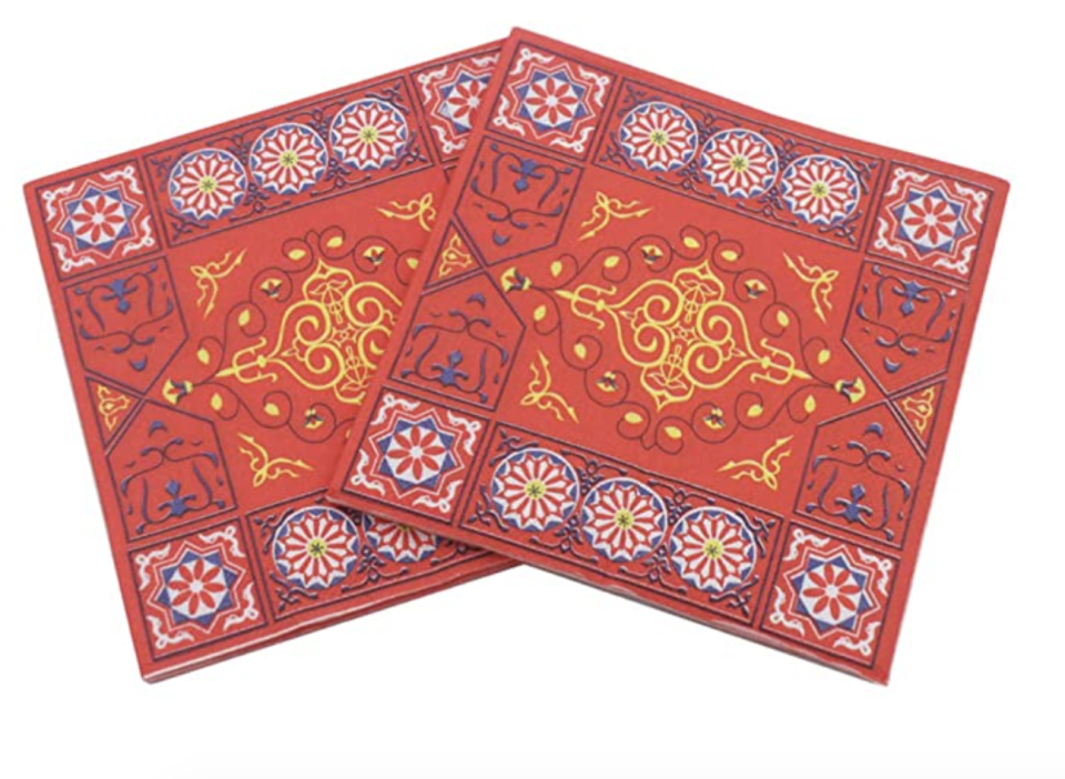 Aboofan 100pcs Happy Ramadan Mubarak Party Napkins. (PHOTO: Amazon Singapore)