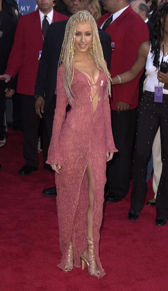 Christina Aguilera during 43rd Annual Grammy Awards at Staples Center in Los Angeles, California, United States. (Photo by SGranitz/WireImage)
