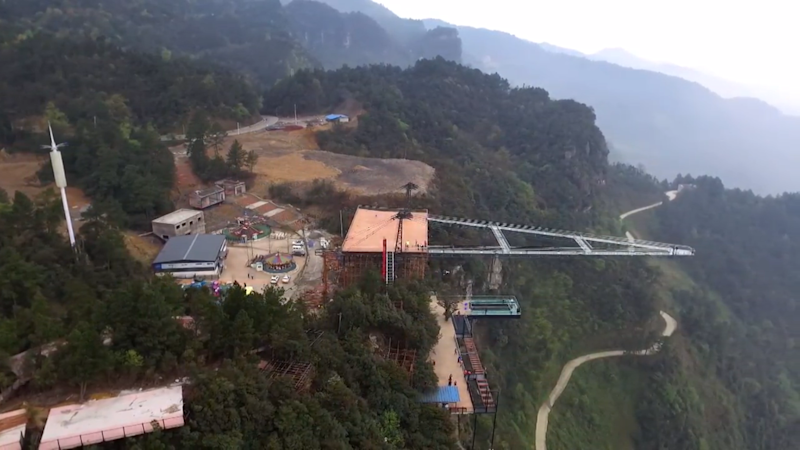 80m Skywalk Unveiled in China and It's Strictly for Thrill Seekers