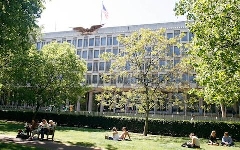 The US embassy in London's Grosvenor Square - Credit: Heathcliff O'Malley for The Telegraph
