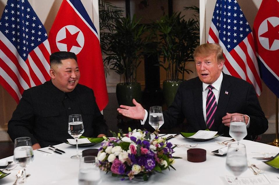 The leaders sat down to break bread with a few close advisors at the five-star hotel (AFP Photo/Saul LOEB)