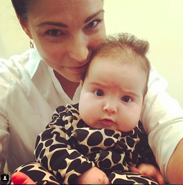 Earlier this year, the sleep-deprived mum posted about her battle with Lexi's schedule. Photo: Instagram/giaan.rooney