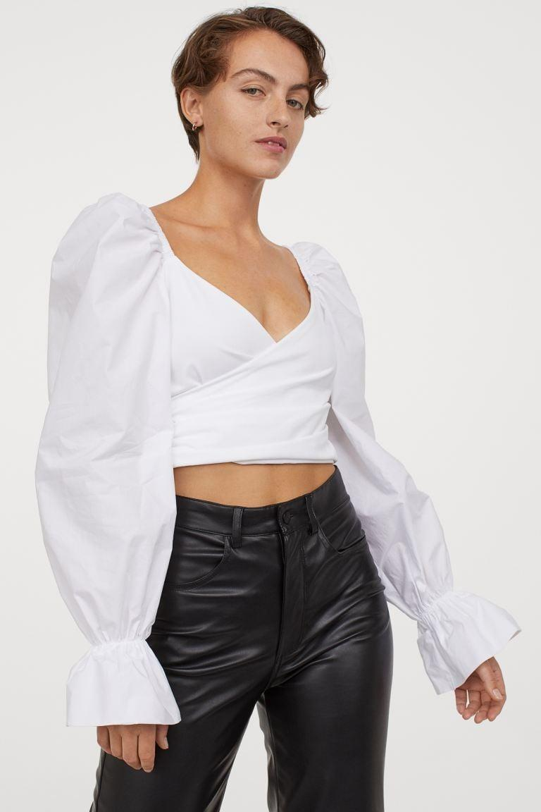 <p>We're loving this fun <span>H&M Puff-sleeved Wrapover Top</span> ($35).</p>