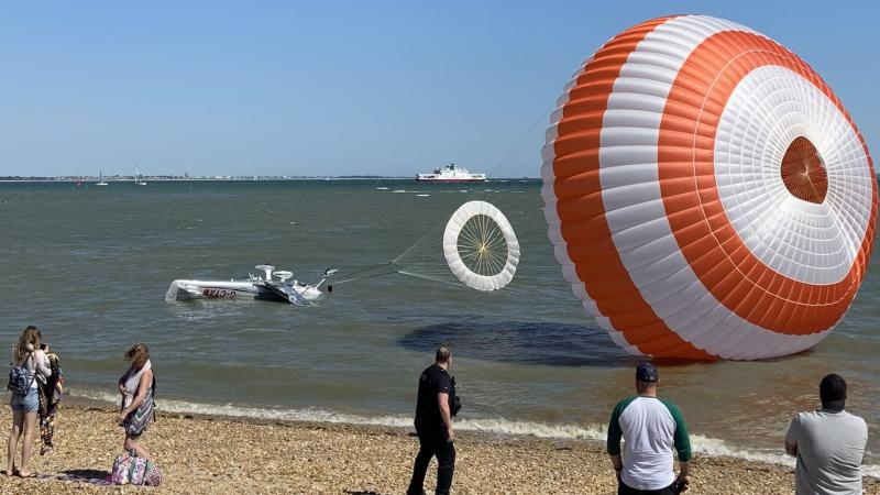Two people rescued after aircraft crashes into water in Southampton
