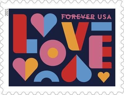 U.S. Postal Service begins the new year with Love 2021 Forever stamps. Love series stamps have been popular since 1973. The latest design features a colorful illustration that will add a special touch to cards and letters.
