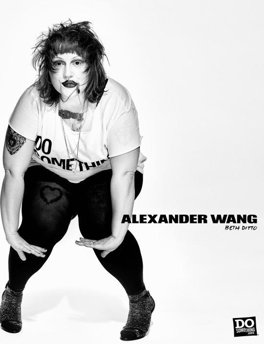 Beth Ditto in the Alexander Wang x DoSomething T-shirt