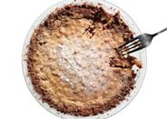 """This rich, salty-sweet pie recipe has an irresistible oat cookie crust. <a href=""""https://www.bonappetit.com/recipe/crack-pie?mbid=synd_yahoo_rss"""" rel=""""nofollow noopener"""" target=""""_blank"""" data-ylk=""""slk:See recipe."""" class=""""link rapid-noclick-resp"""">See recipe.</a>"""