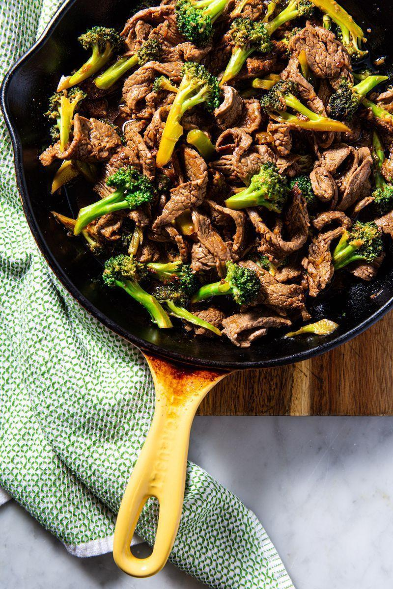 """<p>This keto-friendly <a href=""""https://www.delish.com/uk/cooking/recipes/a29029747/slow-cooker-beef-broccoli-recipe/"""" rel=""""nofollow noopener"""" target=""""_blank"""" data-ylk=""""slk:beef and broccoli"""" class=""""link rapid-noclick-resp"""">beef and broccoli</a> is the perfect quick and hearty dinner. Eat it over cauliflower rice, or straight up out of the pan. We don't judge! </p><p>Get the <a href=""""https://www.delish.com/uk/cooking/recipes/a30712528/keto-beef-and-broccoli-recipe/"""" rel=""""nofollow noopener"""" target=""""_blank"""" data-ylk=""""slk:Keto Beef with Broccoli"""" class=""""link rapid-noclick-resp"""">Keto Beef with Broccoli</a> recipe.</p>"""