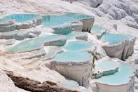 <p>Pamukkale is aptly named, as it means cotton castle in Turkish. </p>