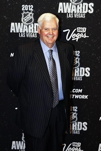 St. Louis Blues coach Ken Hitchcock poses for a photo before the start of the NHL Awards, Wednesday, June 20, 2012, in Las Vegas. (AP Photo/Julie Jacobson)