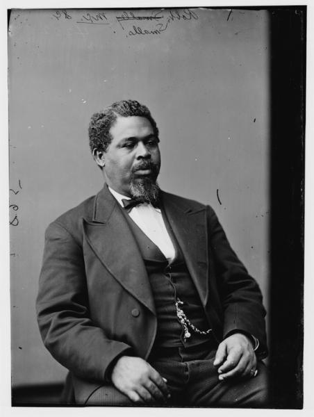 Robert Smalls, who piloted the Planter to freedom during the Civil War.