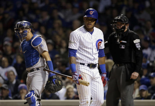 Addison Russell's defense has been strong, but his offense is lacking. (AP Photo/Nam Y. Huh)