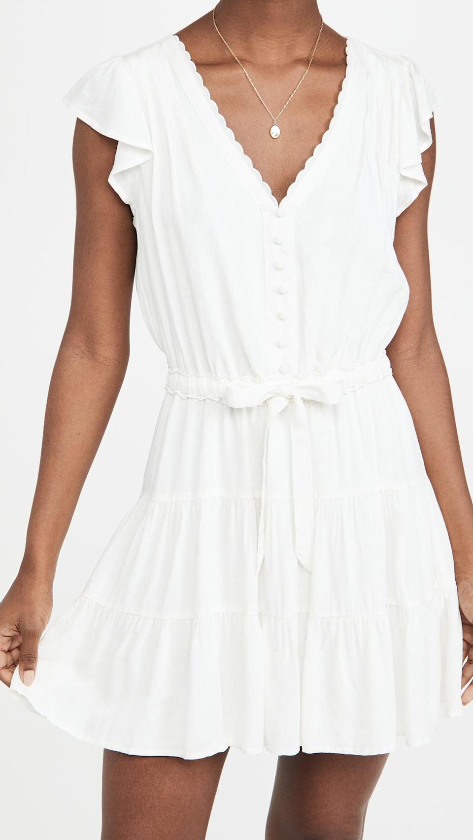 <p>We'd happily spend all day in this <span>Paige Rosalee Dress</span> ($209).</p>