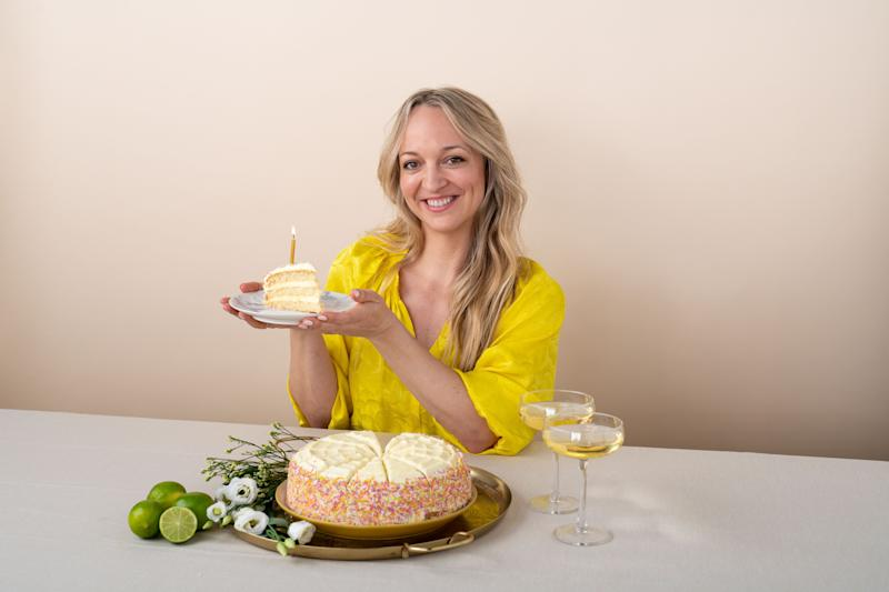 Claire Ptak has produced a special edition citrus and blossom cake to mark Sainsbury's 150th anniversary [Photo: Sainsbury's/PA]