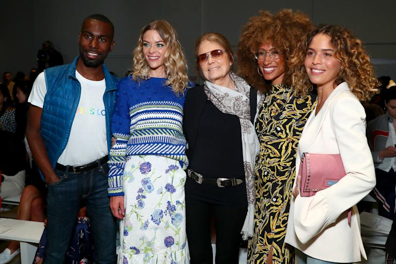 DeRay Mckesson, Jaime King, Gloria Steinem, Elaine Welteroth and Cleo Wade attend Prabal Gurung fashion show during New York Fashion Week, September 10, 2017. (Astrid Stawiarz via Getty Images)