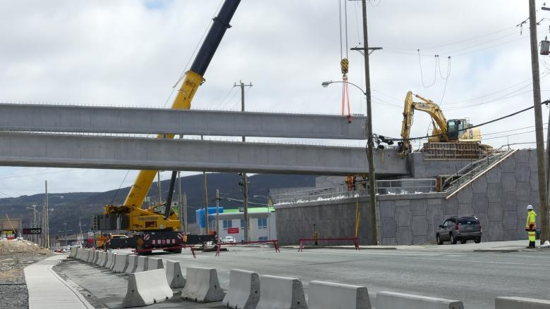 Team Gushue Highway finally spans Topsail Road as overpass construction begins