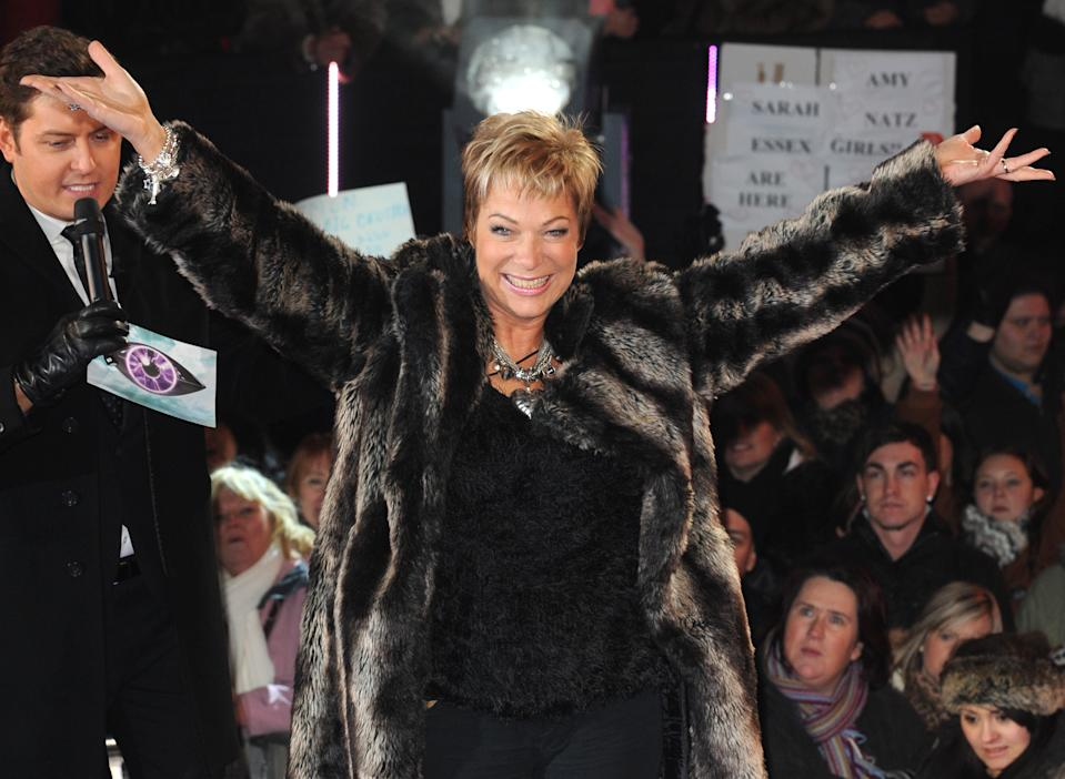 Denise Welch arriving at the launch of Celebrity Big Brother 2012, Elstree Studios, Borehamwood.