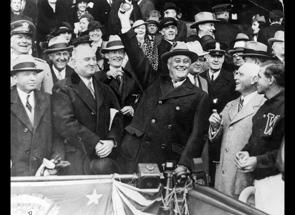 President Franklin D. Roosevelt favors creating national health insurance amid the Great Depression but decides to push for Social Security first.