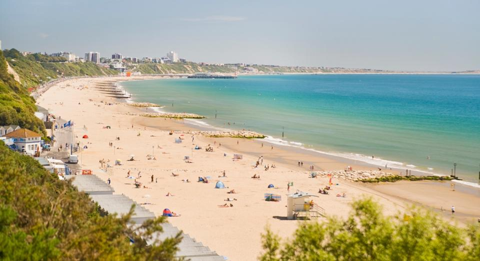 Bournemouth was named as the best beach in the UK (Getty)