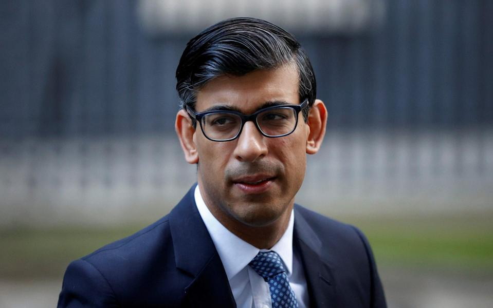 Chancellor of the Exchequer Rishi Sunak leaves Downing Street -  JOHN SIBLEY/ REUTERS