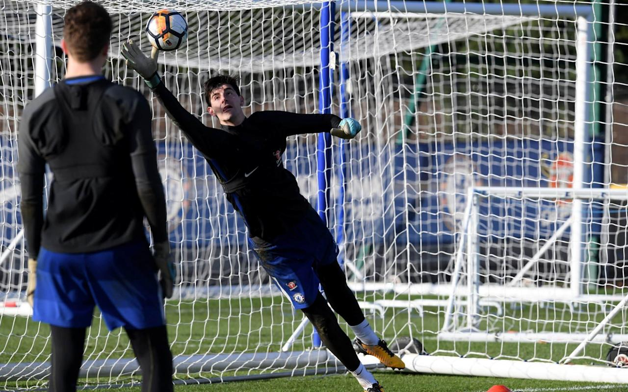 Thibaut Courtois adds to Antonio Conte's growing list of problems at Chelsea by suffering ankle injury