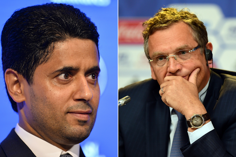 Soccer: Valcke denies receiving 'undue advantages' from Al-Khelaifi