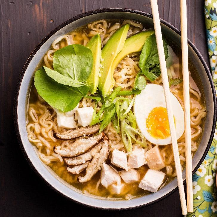 """The idea behind chef Edward Lee's turkey ramen was to create a dish with completely different flavors than those of the original holiday feast. Also, Lee points out, """"it's great hangover food and usually the day after Thanksgiving, you might be feeling a little wobbly."""" The recipe is a perfect example of <a href=""""http://www.epicurious.com/ingredients/ed-lee-gochujang-grilled-cheese-recipes-article?mbid=synd_yahoo_rss"""" rel=""""nofollow noopener"""" target=""""_blank"""" data-ylk=""""slk:Lee's signature blend"""" class=""""link rapid-noclick-resp"""">Lee's signature blend</a> of Southern and Asian flavors, and features an unexpected umami-building garnish of freshly grated Parmesan. If you want to really deck out your bowl, Lee suggests adding pork belly, steamed clams, or nori flakes. <a href=""""https://www.epicurious.com/recipes/food/views/turkey-ramen-51197040?mbid=synd_yahoo_rss"""" rel=""""nofollow noopener"""" target=""""_blank"""" data-ylk=""""slk:See recipe."""" class=""""link rapid-noclick-resp"""">See recipe.</a>"""