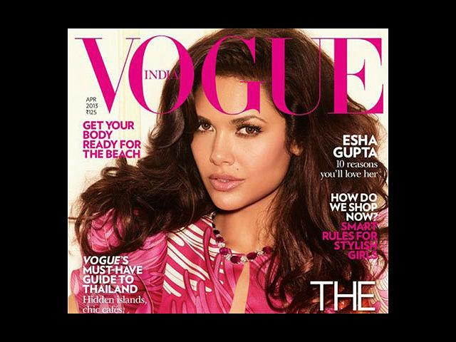 <b>9) Esha Gupta for Vogue, April</b><br>Esha Gupta looks beautiful in a Gucci printed dress. From being a ramp scorcher to a Kingfisher calendar girl, Esha has come a long way. And this recent cover tells the same tale. Quite in vogue, we say!