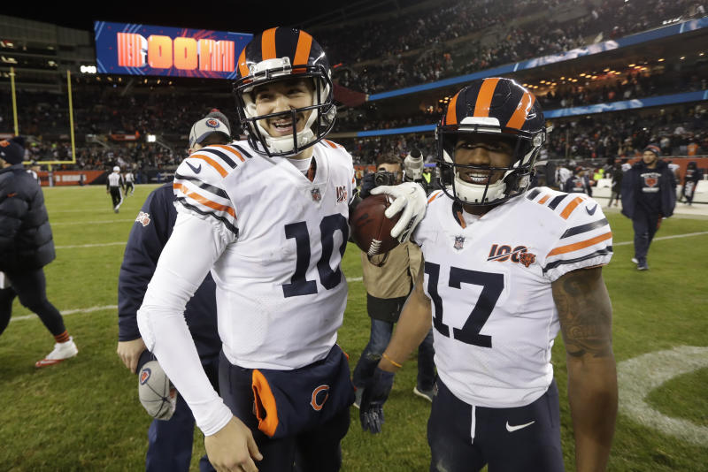 Mitchell Trubisky rides Bears' win streak into Pack rematch