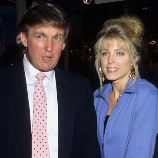 Trump then moved wed actress Marla, who was said to have caused his split with Ivana. Photo: Getty