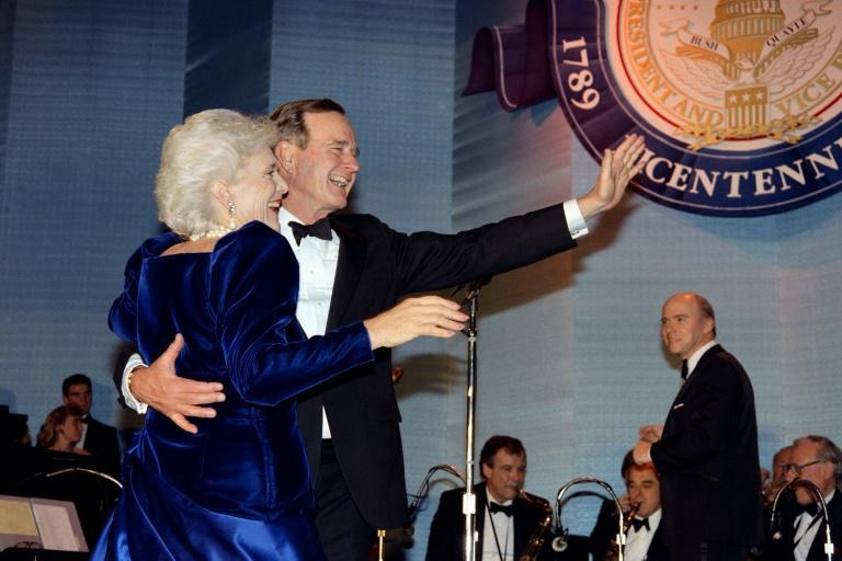 The presidency of George H.W. Bush -- shown here with wife Barbara at his 1989 inaugural ball -- was seen as a foreign policy success but a disappointment on the domestic front, and Americans voted him out of the Oval Office after one term