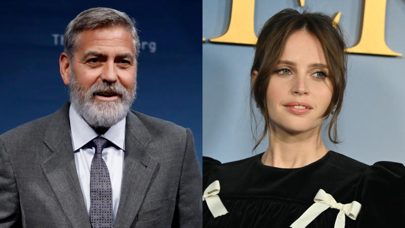 George Clooney has directed Felicity Jones in 'The Midnight Sky'. (Credit: Tolga Akmen/Angela Weiss/AFP via Getty Images)