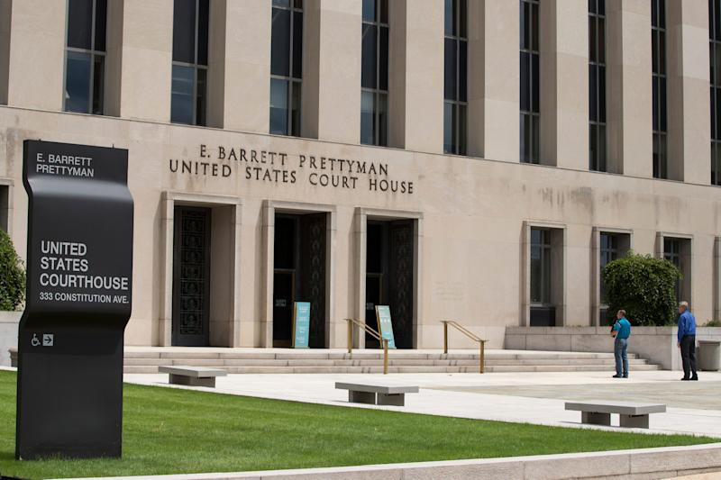 A view of the E. Barrett Prettyman Federal Courthouse, which houses the U.S. Court of Appeals for the D.C. Circuit.