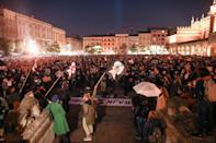 People protest against imposing further restrictions on abortion law in Krakow, Poland October 23, 2020. Jakub Wlodek/Agencja Gazeta/via REUTERS ATTENTION EDITORS - THIS IMAGE WAS PROVIDED BY A THIRD PARTY. POLAND OUT. NO COMMERCIAL OR EDITORIAL SALES IN POLAND.