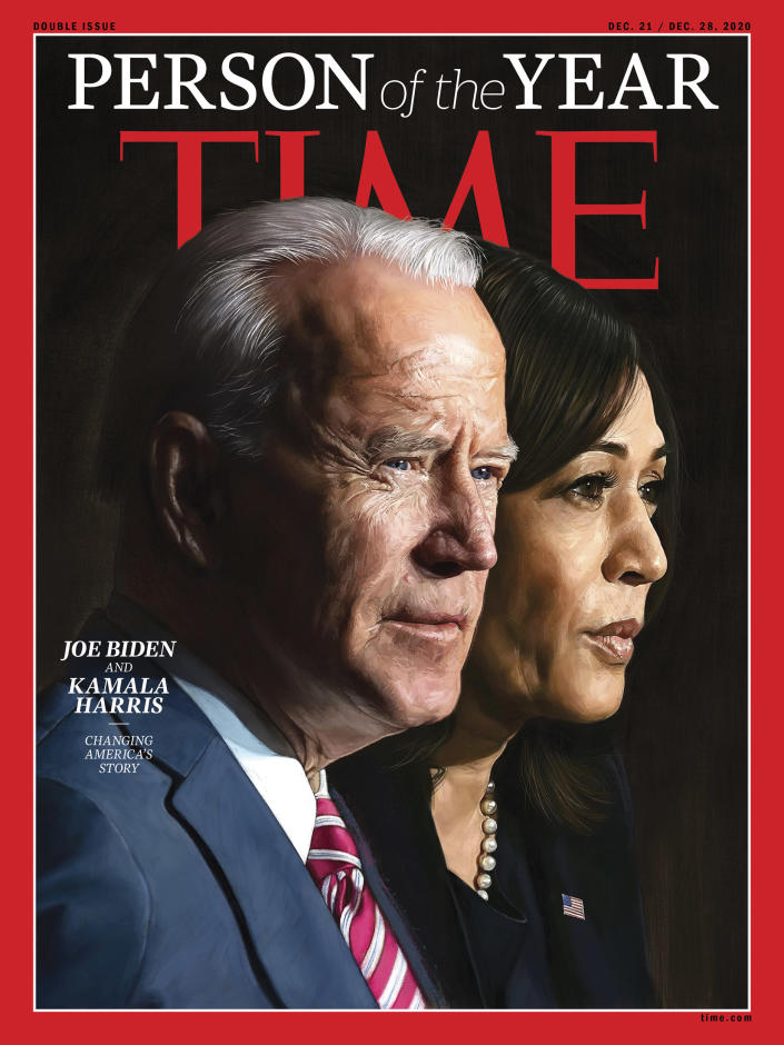 Joe Biden and Kamala Harris cover TIME's annual Person of the Year issue for 2020. (Courtesy of TIME)