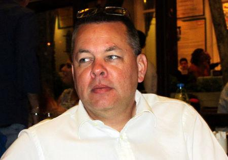 FILE PHOTO: Andrew Brunson, a Christian pastor from North Carolina, U.S. who has been in jail in Turkey since December 2016, is seen in this undated picture taken in Izmir, Turkey. Depo Photos via REUTERS