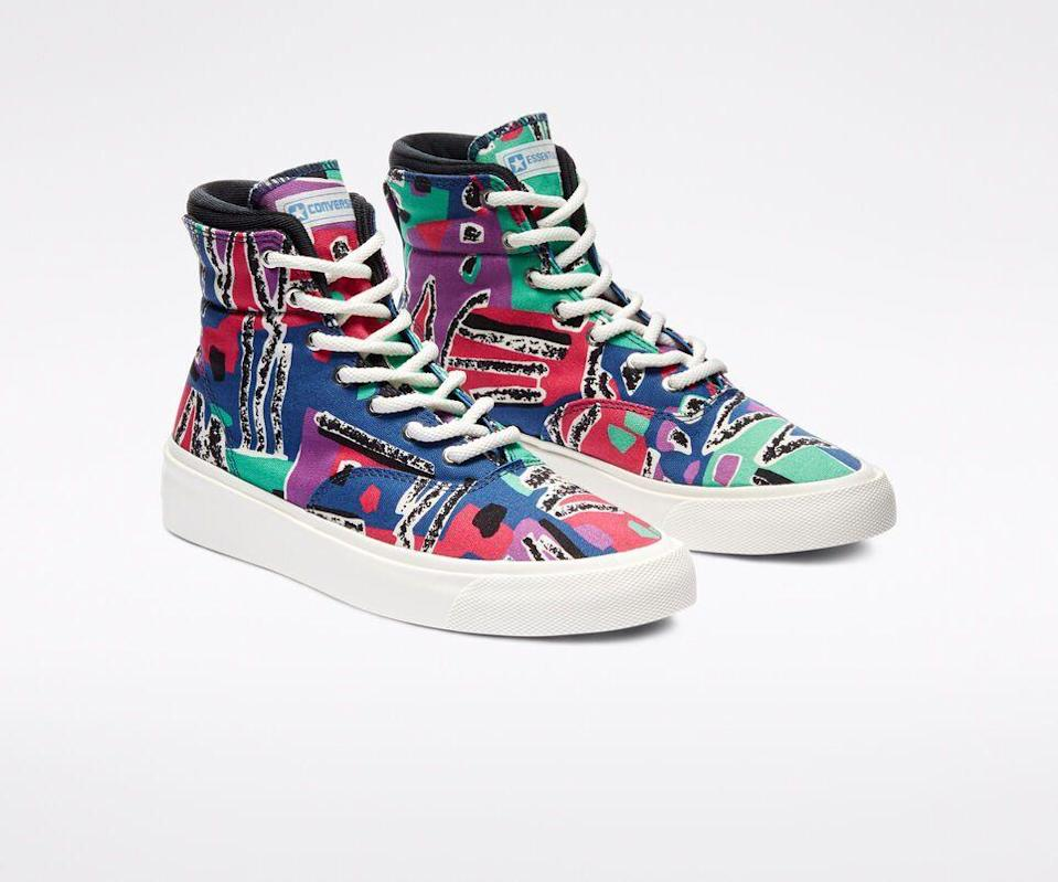 """<p><strong>Converse x Fear of God</strong></p><p>converse.com</p><p><strong>$120.00</strong></p><p><a href=""""https://go.redirectingat.com?id=74968X1596630&url=https%3A%2F%2Fwww.converse.com%2Fshop%2Fp%2Fconverse-x-fear-of-god-essentials-skidgrip-unisex-high-top-shoe%2F169888C.html&sref=https%3A%2F%2Fwww.esquire.com%2Fstyle%2Fmens-fashion%2Fg33835200%2Fbest-new-menswear-august-28-2020%2F"""" rel=""""nofollow noopener"""" target=""""_blank"""" data-ylk=""""slk:Shop Now"""" class=""""link rapid-noclick-resp"""">Shop Now</a></p><p>You can almost hear the rattle of Nash skateboard wheels on asphalt. No? Just me?</p>"""
