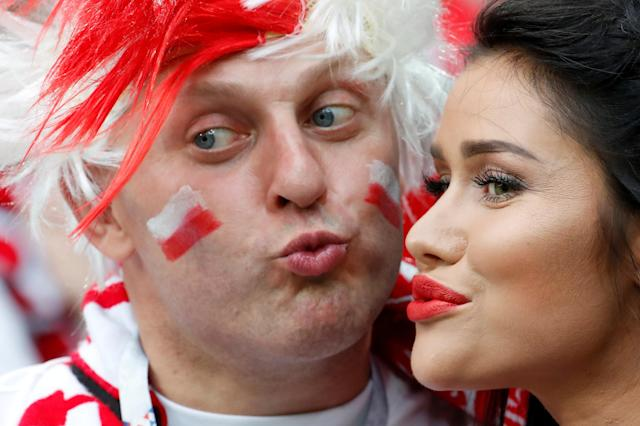 Soccer Football - World Cup - Group H - Poland vs Senegal - Spartak Stadium, Moscow, Russia - June 19, 2018 Poland fans before the match REUTERS/Christian Hartmann TPX IMAGES OF THE DAY