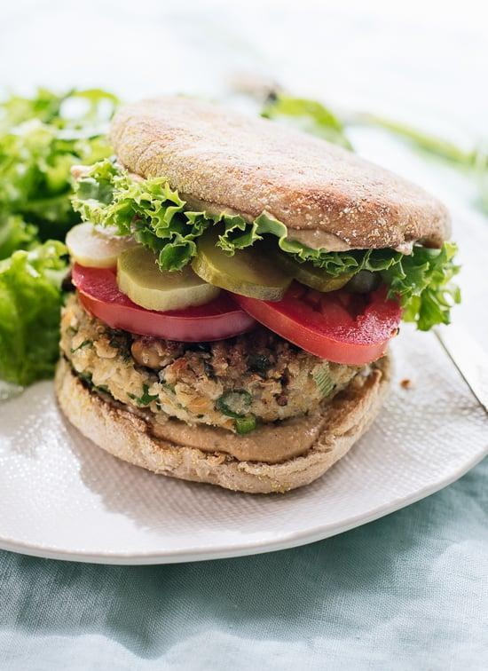 "<p>Vegan, gluten-free, and egg-free, these falafel-inspired burgers are filled with the flavors you're looking for. Whip them up on a warm summer night for a healthy and light dinner.</p> <p><strong>Get the recipe</strong>: <a href=""http://cookieandkate.com/2015/cauliflower-falafel-veggie-burgers/"" class=""link rapid-noclick-resp"" rel=""nofollow noopener"" target=""_blank"" data-ylk=""slk:cauliflower falafel veggie burgers"">cauliflower falafel veggie burgers</a></p>"